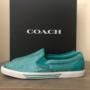 Coach Teal Sneakers 9.5 New